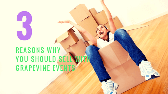 Three Reasons to Sell Your Stuff with Grapevine Events